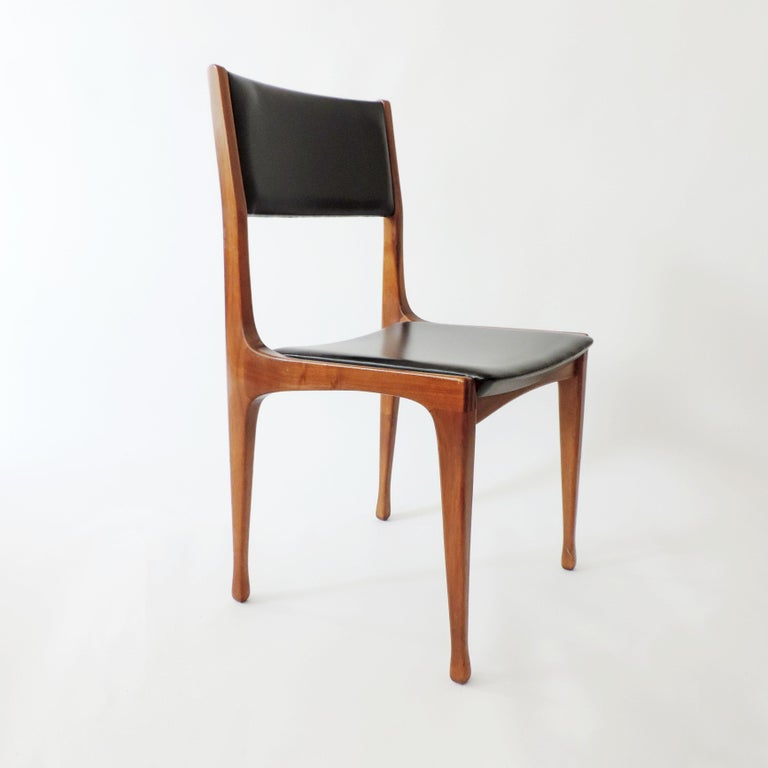Carlo De Carli Set of Six Dining Chairs for Cassina, Italy, 1958 4