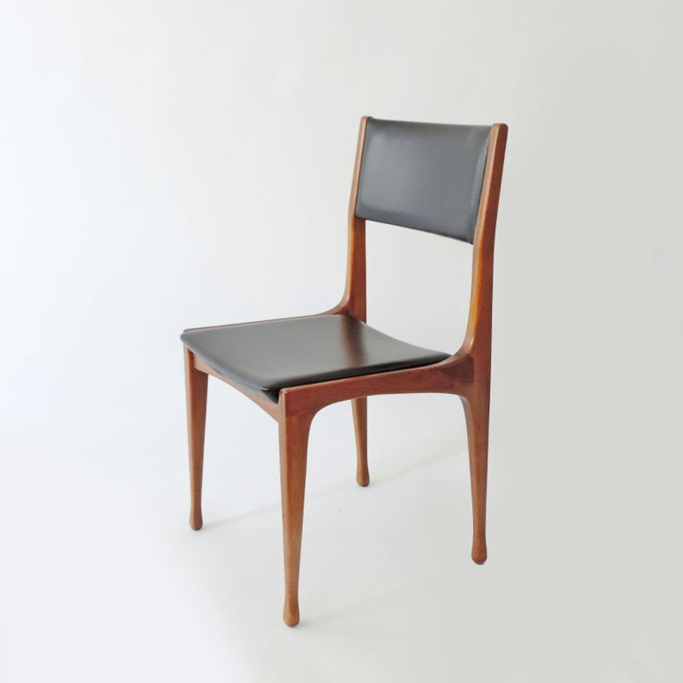 Carlo De Carli set of six dining chairs mod. 693 for Cassina, Italy, 1958