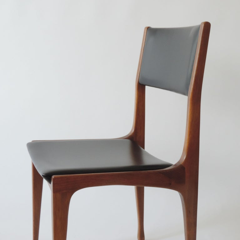 Mid-Century Modern Carlo De Carli Set of Six Dining Chairs for Cassina, Italy, 1958
