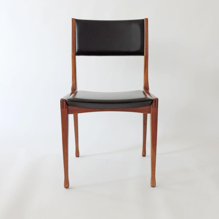 Carlo De Carli Set of Six Dining Chairs for Cassina, Italy, 1958 In Good Condition In Milan, IT