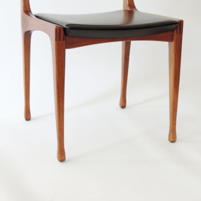 Mid-20th Century Carlo De Carli Set of Six Dining Chairs for Cassina, Italy, 1958
