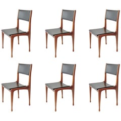 Carlo De Carli Set of Six Dining Chairs for Cassina, Italy, 1958