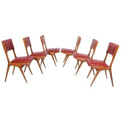 Carlo de Carli Set of Six Side Chairs Model number 158