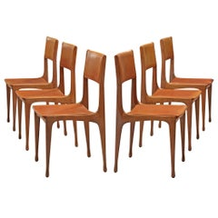 Carlo de Carli Set of Walnut Chairs
