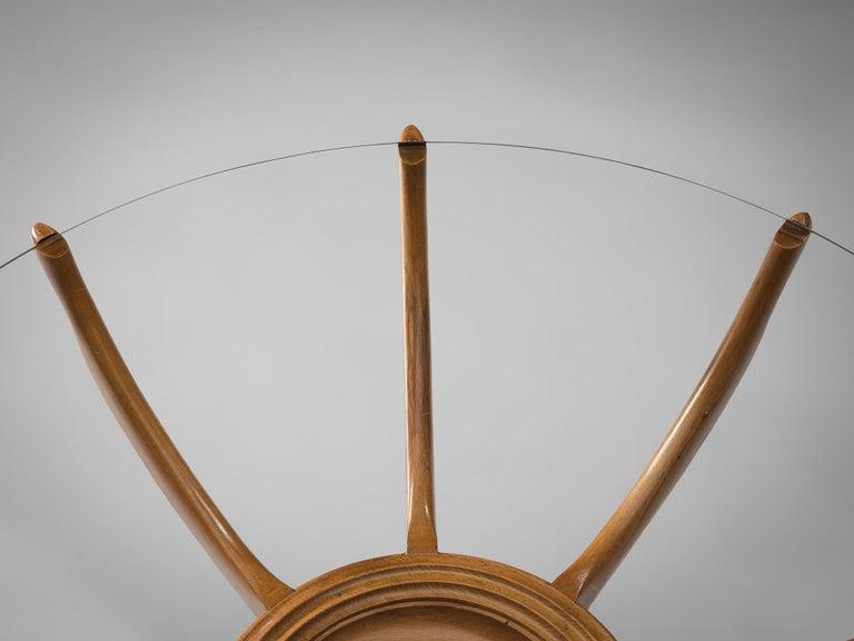 Mid-Century Modern Carlo de Carli Side Table in Beech For Sale