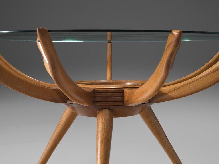 Italian Carlo de Carli Side Table in Beech For Sale