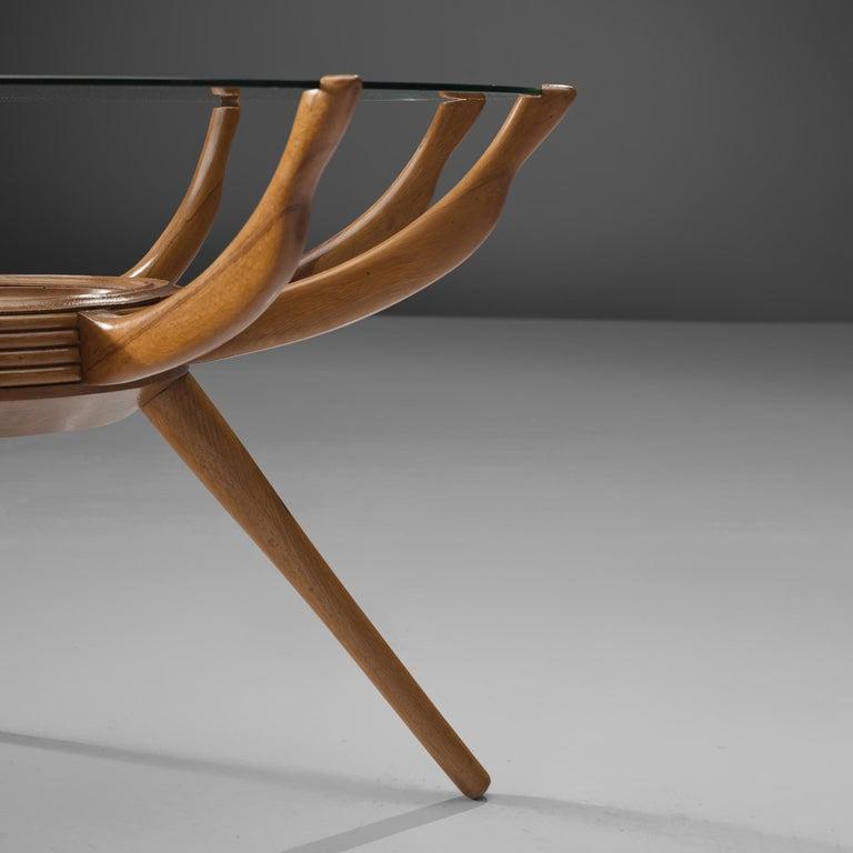 Carlo de Carli Side Table in Beech For Sale 1
