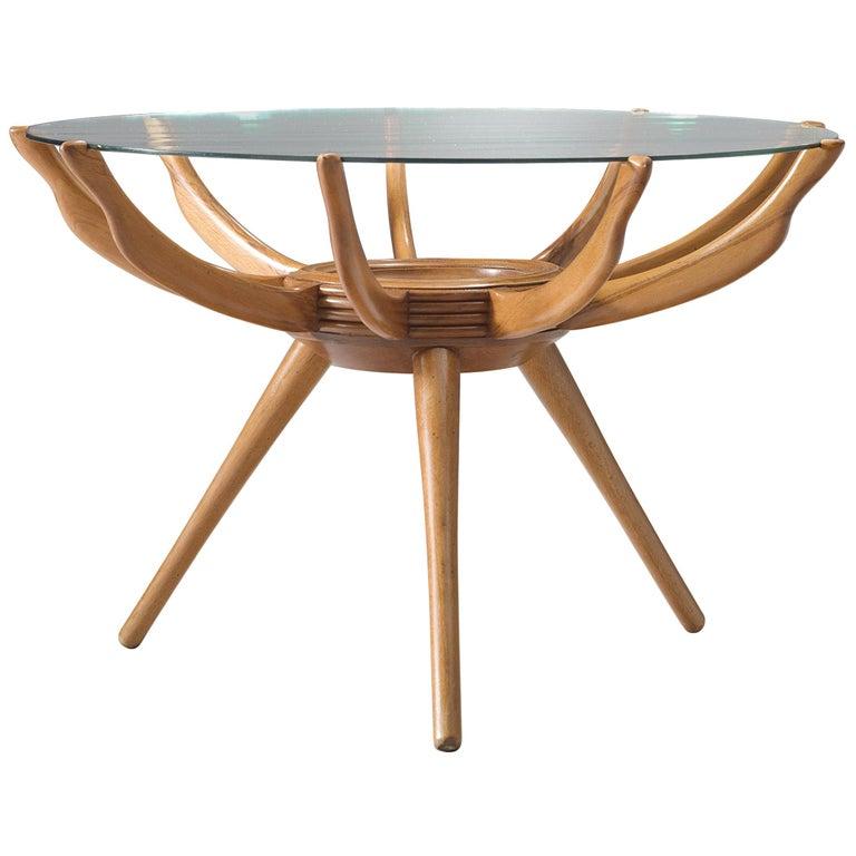 Carlo de Carli Side Table in Beech For Sale