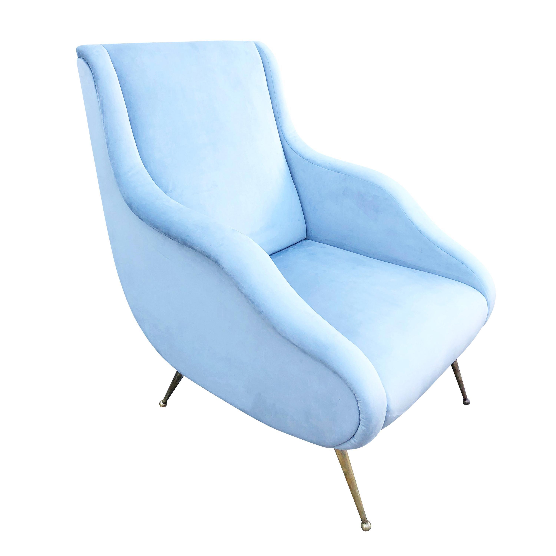 Carlo De Carli Style Lounge Chair, Italy, 1960s