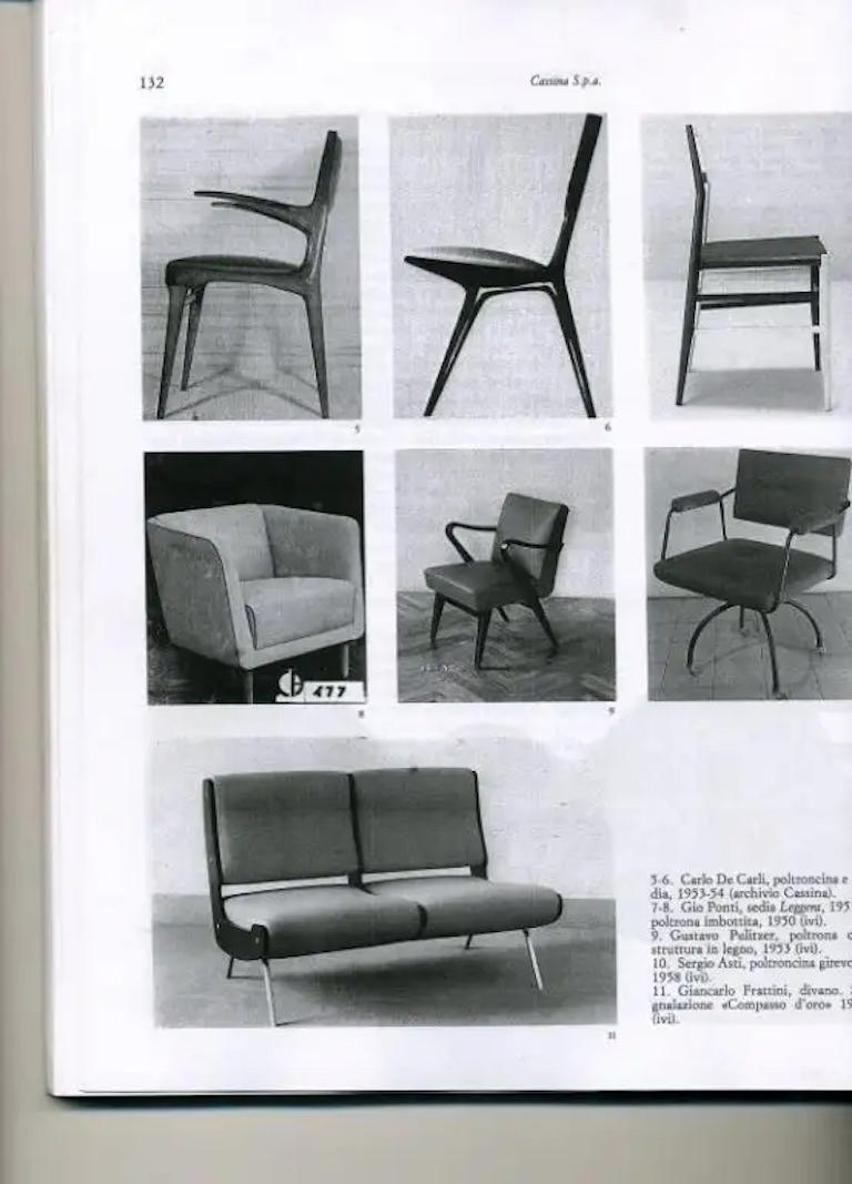 Carlo de 'di' Carli 634 Chairs, Pair For Sale 2