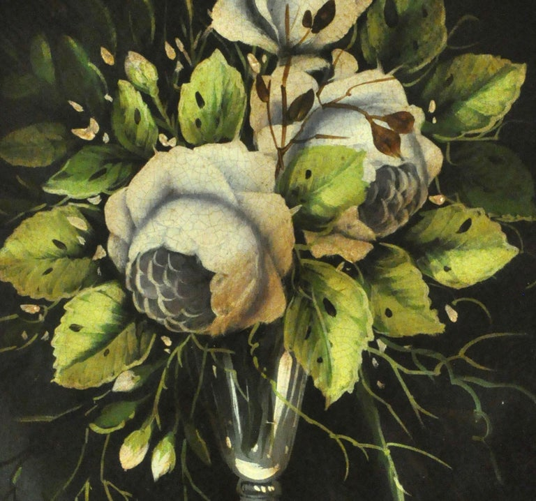 FLOWERS - Carlo De Tommasi Italian still life oil on canvas painting For Sale 3