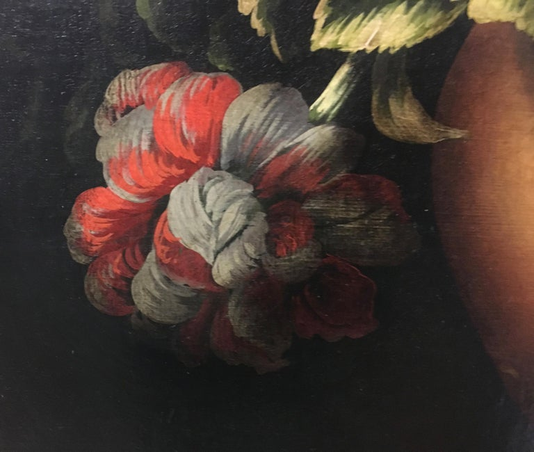 FLOWERS - Italian still life oil on canvas painting, Carlo De Tommasi For Sale 2