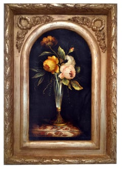 FLOWERS - Italian still life oil on canvas painting, Carlo De Tommasi