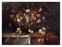 STILL LIFE - Carlo De Tommasi Italian oil on canvas painting