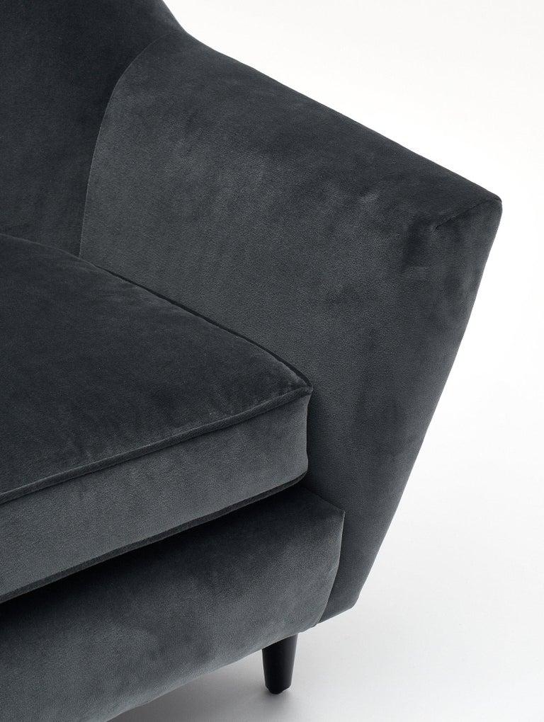 Carlo di Carli Italian Velvet Armchairs For Sale 1