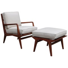 Carlo di Carli Mid-Century Modern Lounge Chair and Ottoman