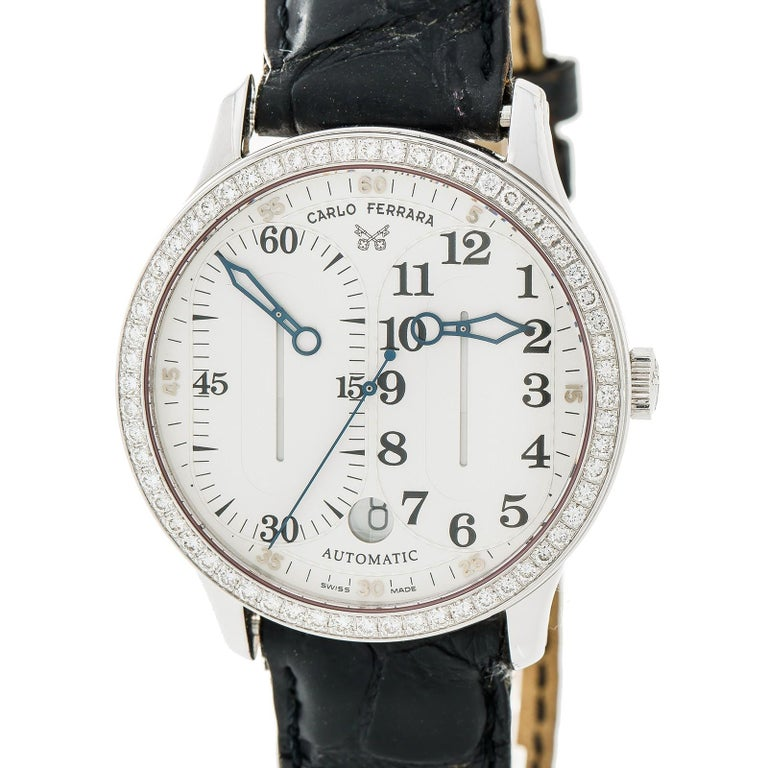 Women's Carlo Ferrara Regolatore Rmmcmxcvii With Stainless-Steel Bezel & White Dial For Sale
