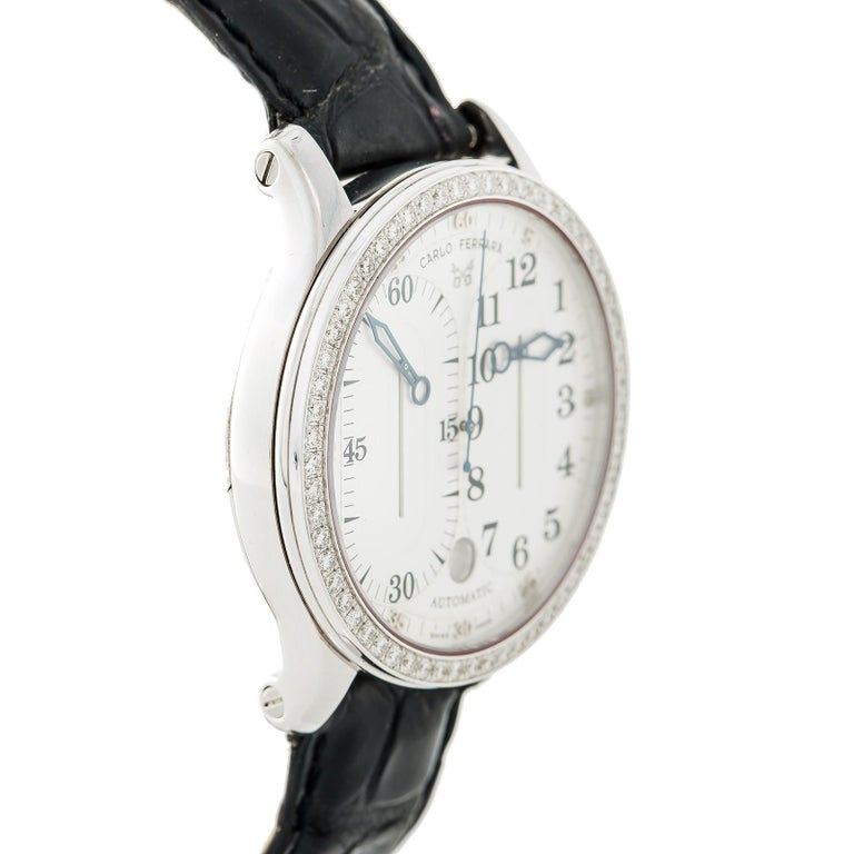 Carlo Ferrara Regolatore Rmmcmxcvii With Stainless-Steel Bezel & White Dial For Sale 1