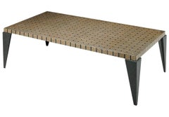 Carlo Furniture Brass Terrazzo Postmodern Style Coffee Table