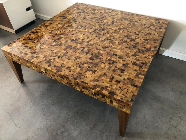 Modern Carlo Furniture Yellow Sea Penshell Coffee Table For Sale