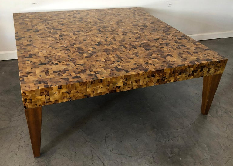 Carlo Furniture Yellow Sea Penshell Coffee Table In Good Condition For Sale In Tempe, AZ