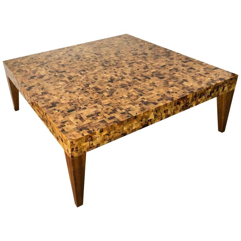Carlo Furniture Yellow Sea Penshell Coffee Table For Sale