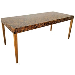 Carlo Furniture Yellow Sea Penshell Writing Table Desk