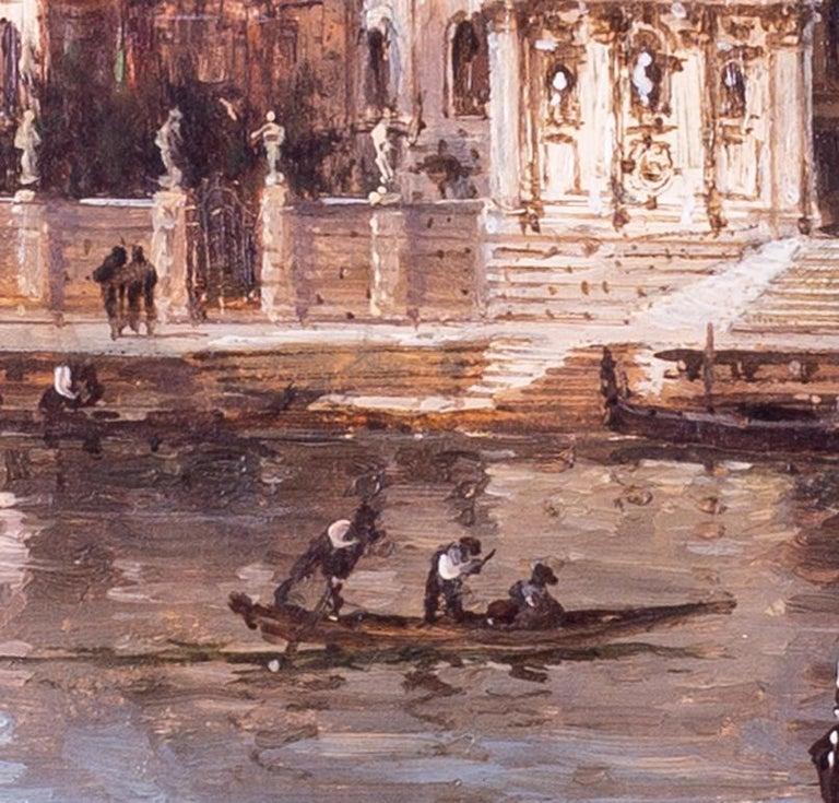 Carlo Grubacs 19th Century oil painting of Santa Maria della Salute, Venice For Sale 1