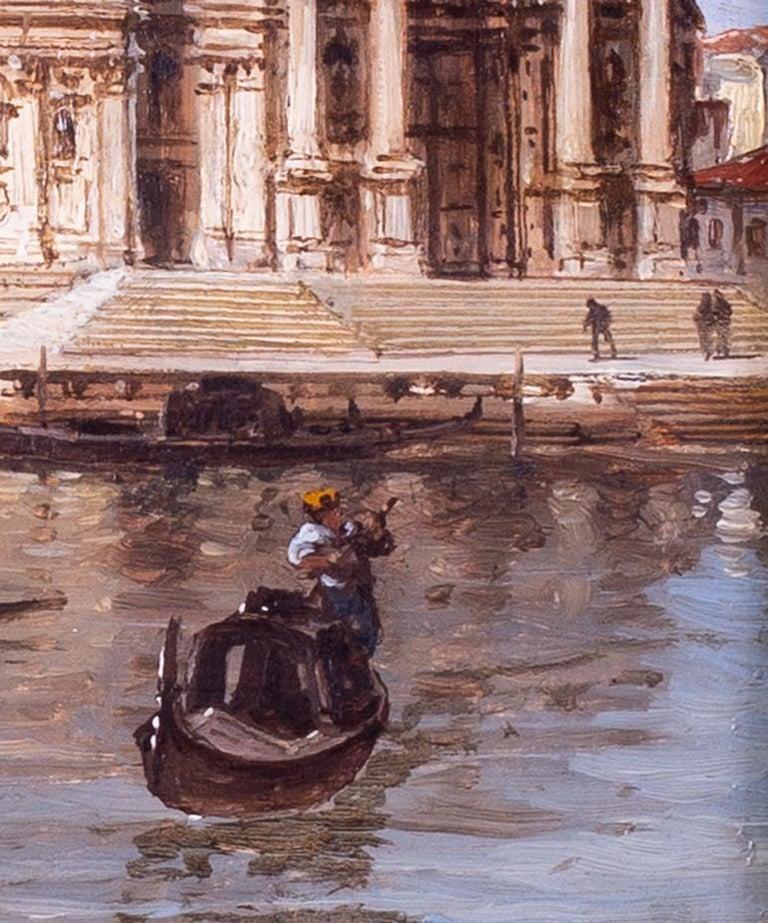 Carlo Grubacs 19th Century oil painting of Santa Maria della Salute, Venice For Sale 2