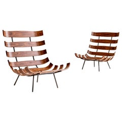 "Carlo Hauner and Martin Eisler ""Costela"" Lounge Chairs"