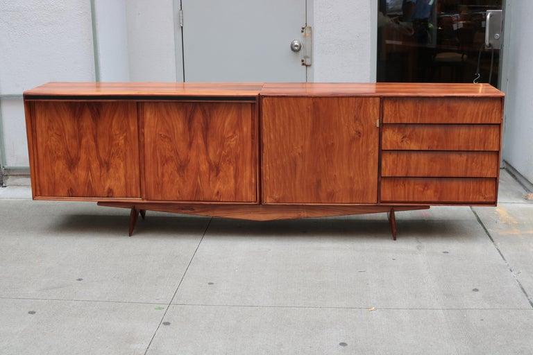 Mid-Century Modern Carlo Hauner and Martin Eisler Designed Sideboard For Sale