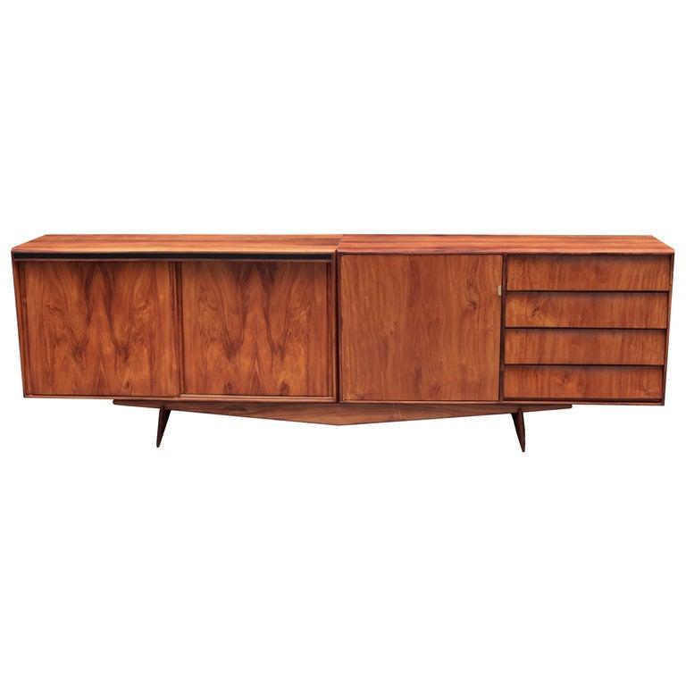 Carlo Hauner and Martin Eisler Designed Sideboard For Sale