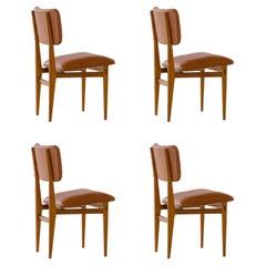 Carlo Hauner and Martin Eisler Set of 4 Dining Chairs, Brazil, 1955