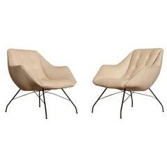 Carlo Hauner and Martin Eisler Shell 'Concha' Lounge Chairs, Forma Brazil, 1950s