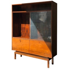 Carlo Hauner for Forma, Bookshelf with Rosewood Finishing with Glass Doors
