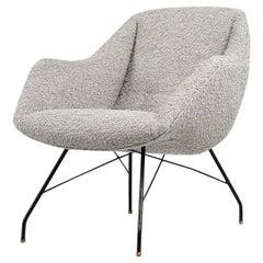 Carlo Hauner Martin Eisler Concha Lounge Chair, Brazil, 1950