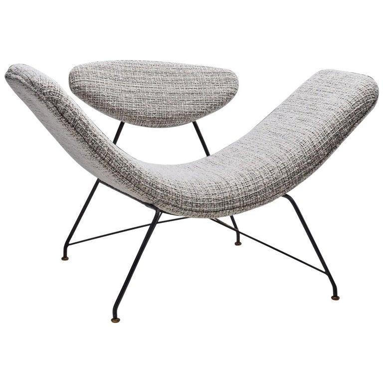 """Carlo Hauner & Martin Eisler """"Reversivel"""" Chair, Brazil, 1950s For Sale"""