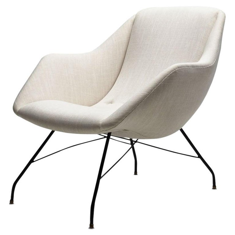 "Carlo Hauner & Martin Eisler ""Shell"" Lounge Chair, Brazil, circa 1955 For Sale"