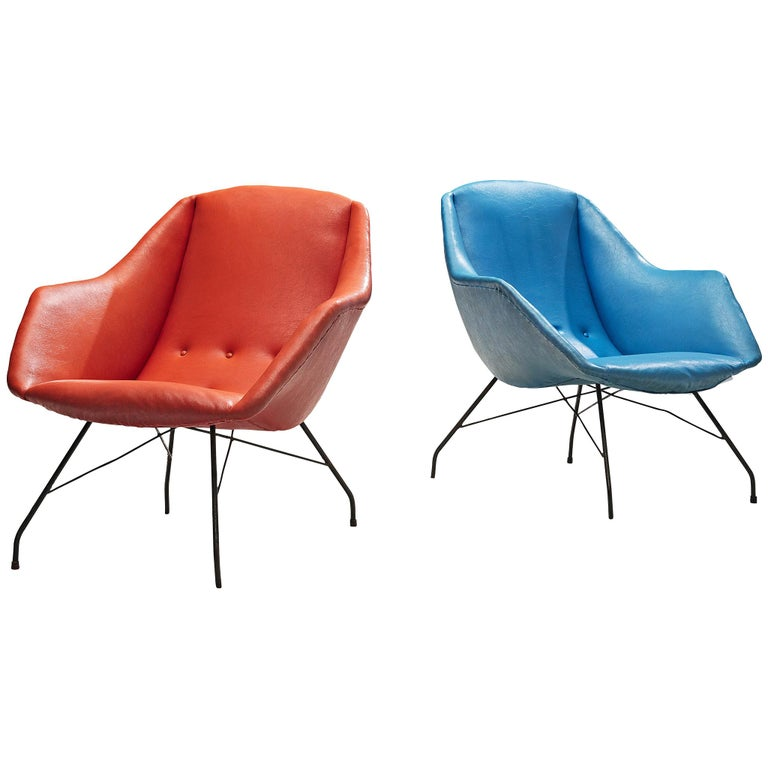 Carlo Hauner Set of Armchairs for Móveis Artesenal For Sale