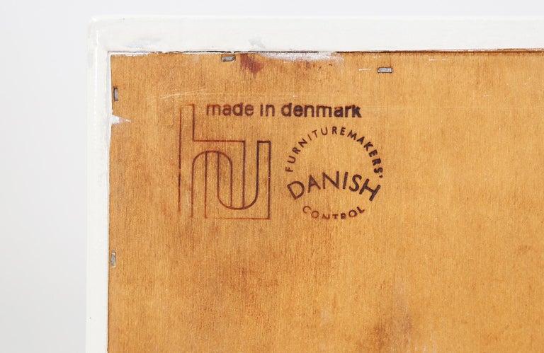 Carlo Jensen Lacquered and Teak Dresser for Hundevad & Co. For Sale 3