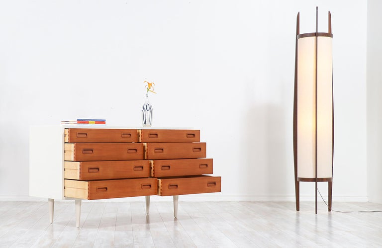 Danish Carlo Jensen Lacquered and Teak Dresser for Hundevad & Co. For Sale