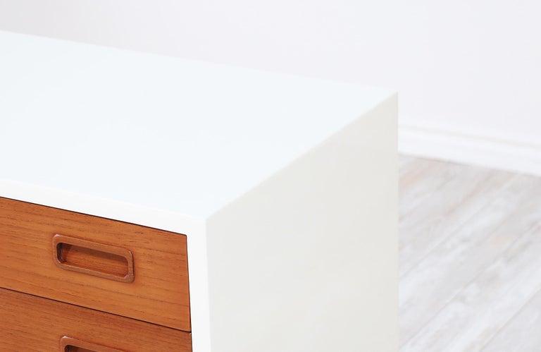 Wood Carlo Jensen Lacquered and Teak Dresser for Hundevad & Co. For Sale
