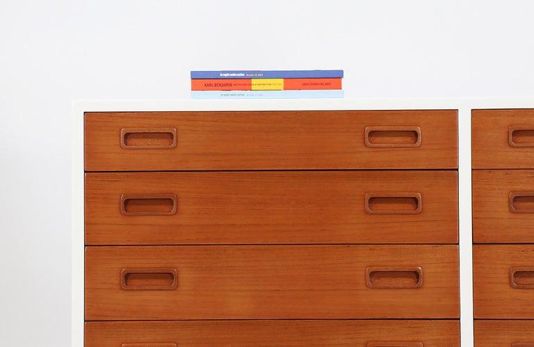 Carlo Jensen Lacquered and Teak Dresser for Hundevad & Co. For Sale 1
