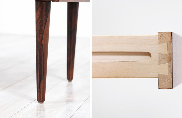 Carlo Jensen Rosewood Nightstands for Hundevad & Co. For Sale 5