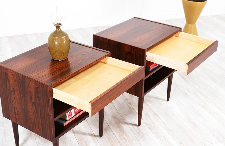Carlo Jensen Rosewood Nightstands for Hundevad & Co. For Sale 2