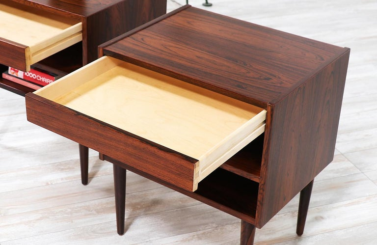 Carlo Jensen Rosewood Nightstands for Hundevad & Co. For Sale 3