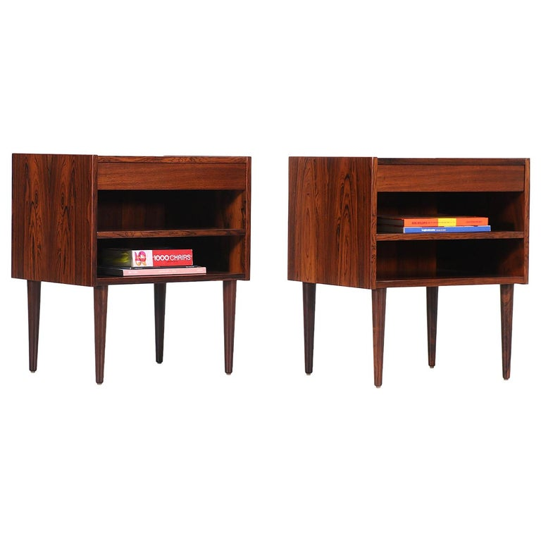 Carlo Jensen Rosewood Nightstands for Hundevad & Co. For Sale