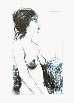 Nude - 2 - Original Lithograph by Carlo Marcantonio - 1970