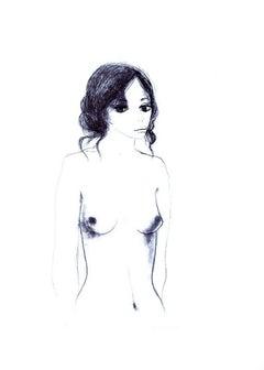 Nude - 6 - Original Lithograph by Carlo Marcantonio - 1970