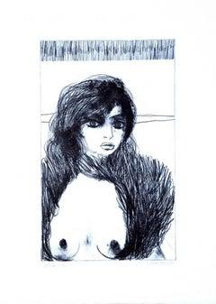 Nude - 8 - Original Lithograph by Carlo Marcantonio - 1970 ca.